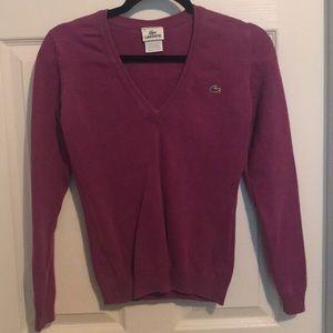 Lacoste purple V-neck Sweater